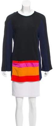 Vionnet Long Sleeve Colorblock Top