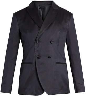 Giorgio Armani Double-breasted silk blazer
