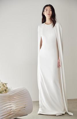 Stella McCartney F18 Violet Cape Wedding Dress
