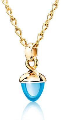 Tamara Comolli MIKADO BOUQUET 18k Rose Gold Swiss Blue Topaz Pendant