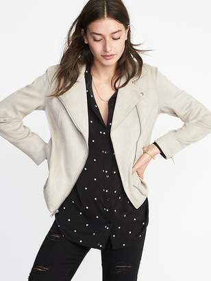 Old Navy Sueded-Knit Moto Jacket for Women