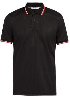 Givenchy Logo Jacquard Technical Polo Shirt - Mens - Black