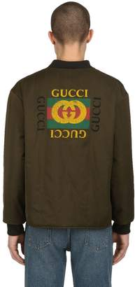 Gucci Reversible Satin Bomber Jacket