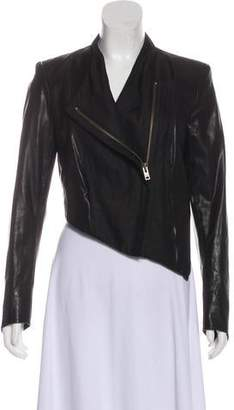 Helmut Lang Asymmetrical Leather Jacket
