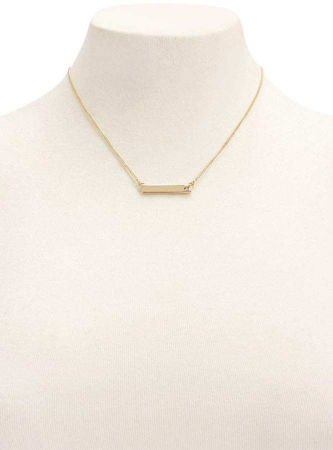 Forever 21 Bar Pendant Necklace