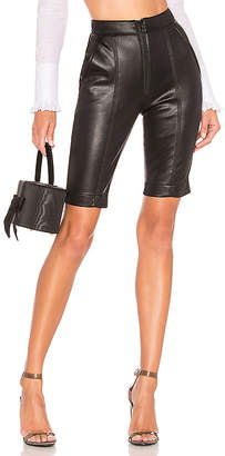 BROGNANO Faux Leather Biker Short