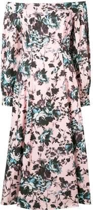 Erdem floral off-shoulder midi dress