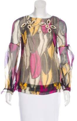 Matthew Williamson Silk Embellished Blouse