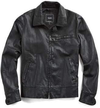 Todd Snyder Dean Leather Jacket in Black