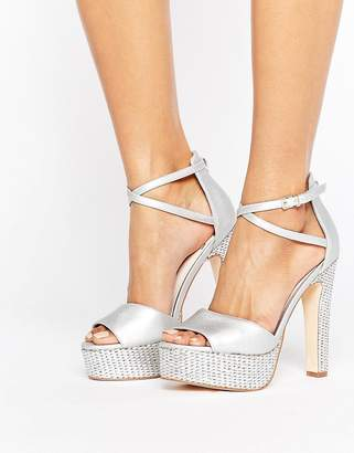 Faith Layla Metallic Platform Heeled Sandals