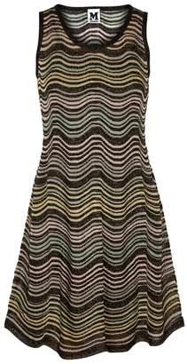 M Missoni Wave-intarsia Fine-knit Dress