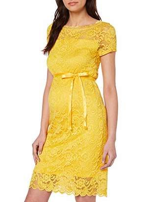 Mama Licious Mamalicious Women's Mlmivana S/s Boatneck Jersey Dress A. Yellow Super Lemon, (Size: Large)