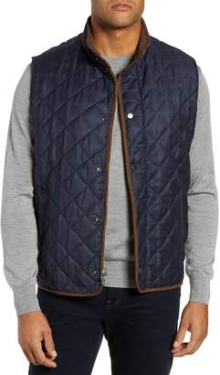 Peter Millar Quilted Plaid Wool Vest