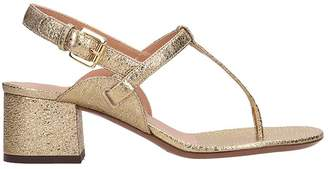L'Autre Chose Bronze Leather Sandals
