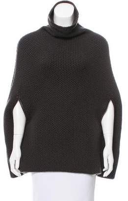 Loro Piana Leather-Trimmed Cashmere Poncho