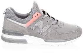 New Balance Suede Mesh Sneakers