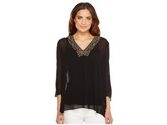 MICHAEL Michael Kors Top/Embellished Neckline Women's Clothing