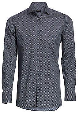 Ermenegildo Zegna Men's Triangle-Print Shirt