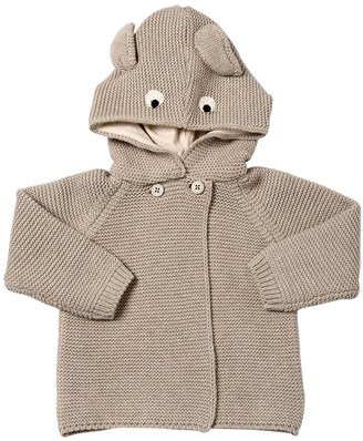 Stella McCartney Hooded Blend Cotton Knit Cardigan