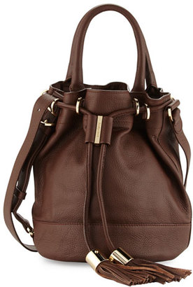 See by Chloe Vicki Leather Bucket Bag, Chocolate $495 thestylecure.com