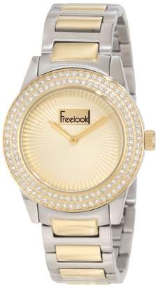 Freelook Women's HA5338BG-4B Silver/ Band Dial Case Swarovskiivski Bezel Watch