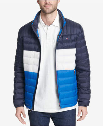 Tommy Hilfiger Men's Down Quilted Packable Logo Jacket
