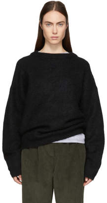 Acne Studios Black Dramatic Crewneck Sweater