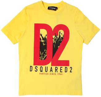 DSQUARED2 D2 Printed Cotton Jersey T-Shirt