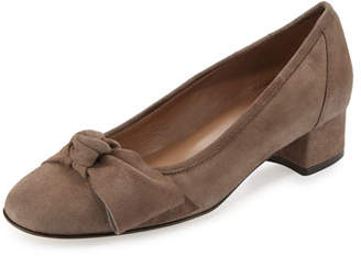 Sesto Meucci Fadia Knotted Low-Heel Pump, Taupe $230 thestylecure.com
