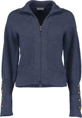 Brunello Cucinelli Zip Up Cropped Cardigan