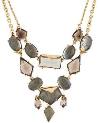 Alexis Bittar Smoky Quartz, Quartz & Pyrite Miss Havisham Double Strand Rigel Necklace