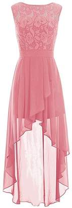 CladiyaDress Women A Line Lace Hi-lo Bridesmaid Party Dress C085LF US