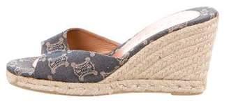 Celine Patterned Slide Sandals