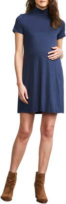 Maternal America Maternity Turtleneck Dress