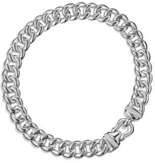 David Yurman Cable Buckle Chain Necklace With Diamonds