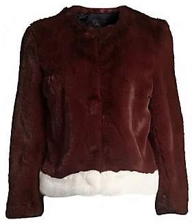 Saks Fifth Avenue Women's COLLECTION Faux Fur Plush Jacket