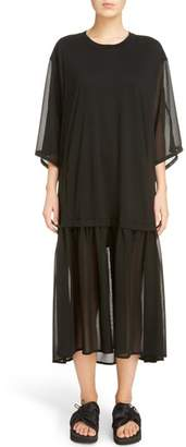 Yohji Yamamoto Y's by Sheer Hem T-Shirt Dress