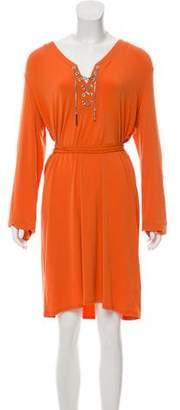 MICHAEL Michael Kors Long Sleeve Knee-Length Dress.