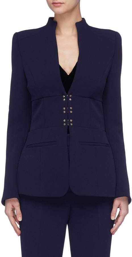 'Mimosa' stud hook-and-eye suiting blazer