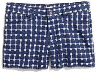 Madewell Denim Cutoff Shorts in Graphic Grid