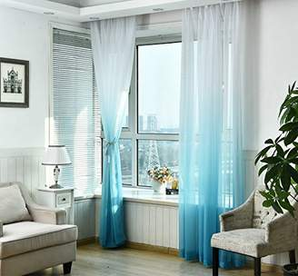 AliFish 1 Panel Living Room Window Treatment Curtain Gauze Rod Pocket Sheer Curtains Screens Home Decorations Light Filtering Voile for Bedroom/Sliding Glass Door Multicolor W39 x L84 inch