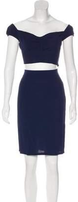 Reformation Crop Top Knee-length Skirt Set