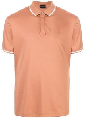 Emporio Armani embroidered logo polo shirt