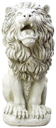 "One Kings Lane 30"" Roman Estate Lion - Antiqued Stone"
