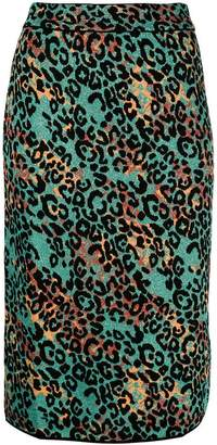 M Missoni cheetah printed pencil skirt