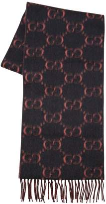 Gucci Gg Supreme Alpaca & Wool Scarf