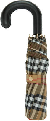 Burberry Yellow Vintage Check Trafalgar Umbrella