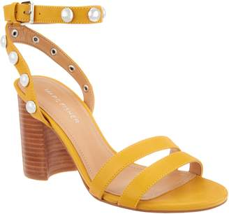 Marc Fisher Embellished Leather Heeled Sandals - Lantern