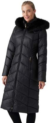 Gallery Missy Full-Length Puffer Coat w/ Faux-Fur Trimmed Hood