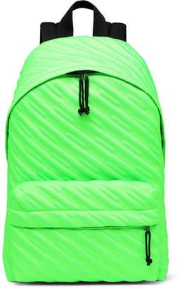 Balenciaga Explorer Quilted Canvas Backpack - Men - Green